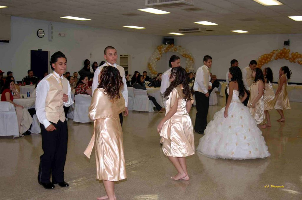 Dancing at a Quinceañera party