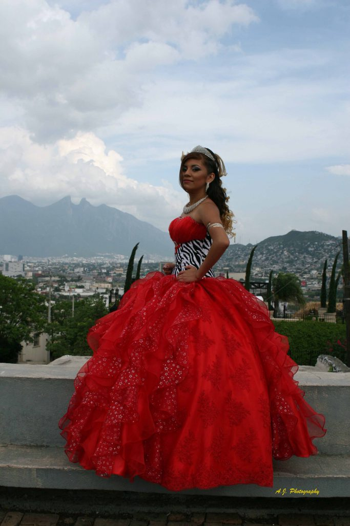Portrait of a quinceañera